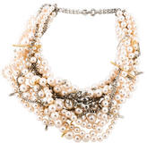 Tom Binns Crystal & Faux Pearl Multistrand Necklace