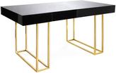 """Jonathan Adler Brass & Black Lacquered Wood Desk """"Caine"""""""
