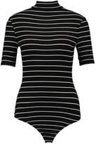 Urban Classics STRIPED TURTLENECK Print Tshirt black/white