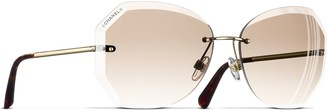 Chanel Round Sunglasses CH4220 Gold/Beige