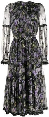 Needle & Thread Floral-Print Midi Dress