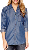 JCPenney A.N.A a.n.a Long-Sleeve Button-Front Shirt