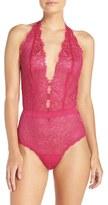 Hanky Panky Women's 'Wink' Halter Lace Bodysuit