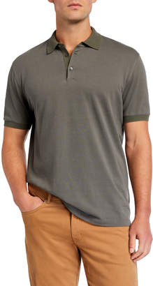 Brunello Cucinelli Men's Solid Short-Sleeve Polo Shirt