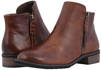 Walking Cradles Kason (Chestnut Rustic Leather) Women's Zip Boots