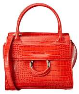 Sam Edelman Chiara Croco Leather Mini Handbag.