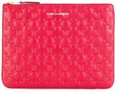 Comme des Garcons embossed zipped clutch - unisex - Calf Leather - One Size