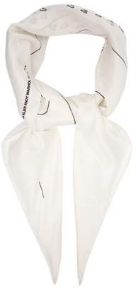 Calvin Klein Andy Warhol-print Silk Scarf - Womens - White