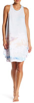 Kensie Palm Tree Print Tank Dress