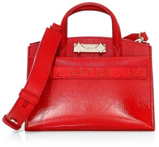 MCM Mini Milano Patent Leather Tote
