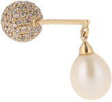 Elise Dray Diamond, pearl & yellow-gold Big Balls earring