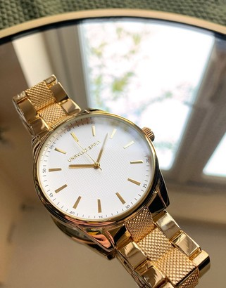 ASOS DESIGN bracelet watch in gold tone