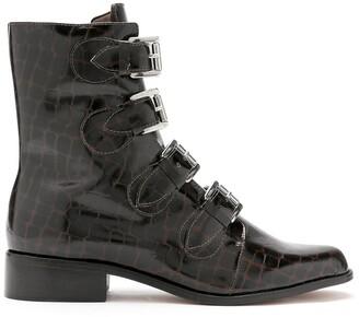 Blue Bird Shoes Merzouga croc-effect boots