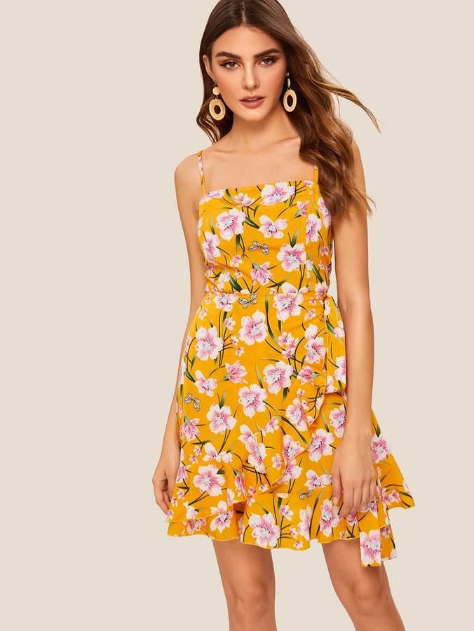 99d44635d4 Flower Wrap Dress - ShopStyle