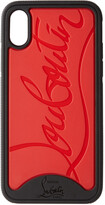 Thumbnail for your product : Christian Louboutin Black & Red Loubiphone Sneakers iPhone X/XS Case