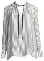 Derek Lam Striped Silk Blouse