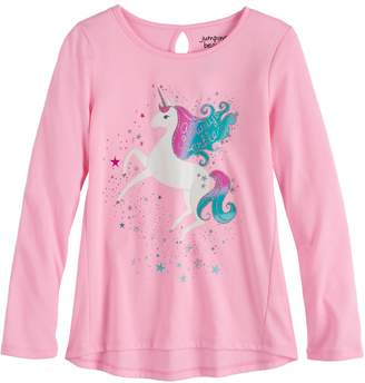 Girls 4-12 Jumping Beans Keyhole Graphic Tee