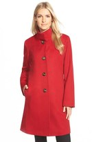 Fleurette Women's Cashmere Stand Collar Car Coat