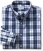 L.L. Bean Wrinkle-Free Acadia Sport Shirt, Slightly Fitted Long-Sleeve Plaid