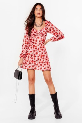 Nasty Gal Womens We Rose You Floral Mini Dress - Red - 6, Red