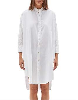 Bassike Pique Cotton Shirt Dress