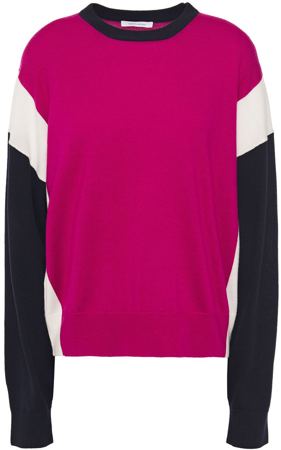 Ninety Percent Color-block Merino Wool Sweater