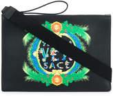 Versace printed logo clutch bag