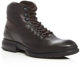 Salvatore Ferragamo Mixed Media Leather Hiking Boots