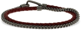 Marco Dal Maso Braided & Chained Double Wrap Bracelet