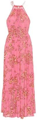 Poupette St Barth Rachel floral halterneck maxi dress