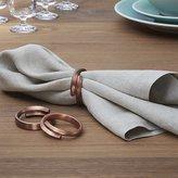 Crate & Barrel Wrap Copper Napkin Ring