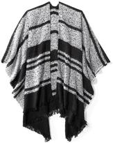 Old Navy Textured-Stripe Poncho for Women