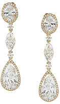 Nadri Cubic Zirconia Oval Drop Earrings
