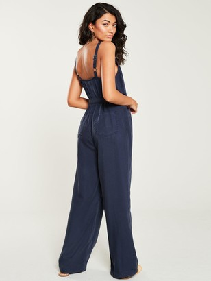 Very Ring Detail Strappy Jumpsuit- Ink