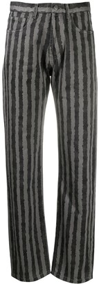 Kenzo Vertical-Stripe Print Trousers