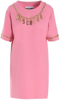 Moschino Logo-Plaque Embellished T-Shirt Dress