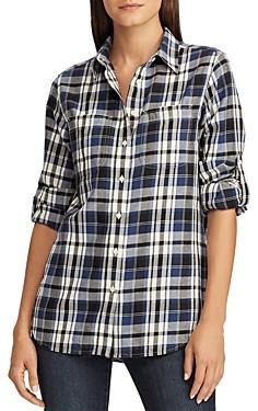 Ralph Lauren Ralph Plaid Roll-Sleeve Shirt