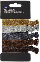 Boots Metallic Fabric Pony Tailer