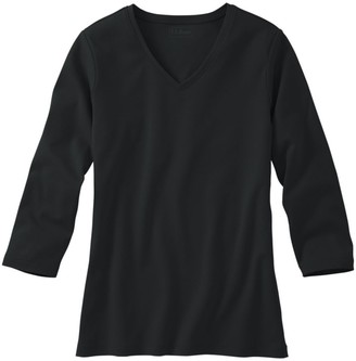L.L. Bean Women's L.L.Bean V-Neck, Three-Quarter-Sleeve