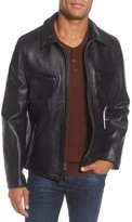 Schott NYC Men's Slim Fit Leather Jacket