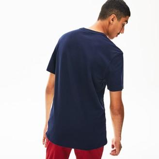Lacoste Men's Made In France Jacquard Pique Crewneck T-Shirt