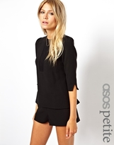 Asos Exclusive Shell Top with Sheer Insert - Black