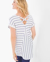 Chico's Striped Back-Detail Tunic