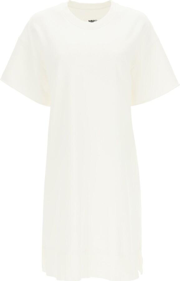 Thumbnail for your product : MM6 MAISON MARGIELA FLEECE MINI DRESS XS White Cotton