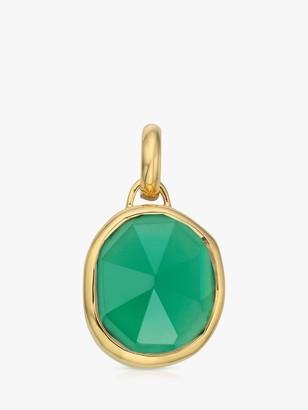Monica Vinader Siren Medium Bezel Charm, Gold/Green Onyx