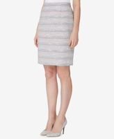 Tahari ASL Tahari ASL Petite Striped Tweed Pencil Skirt