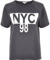 River Island Womens Grey 'NYC' print T-shirt