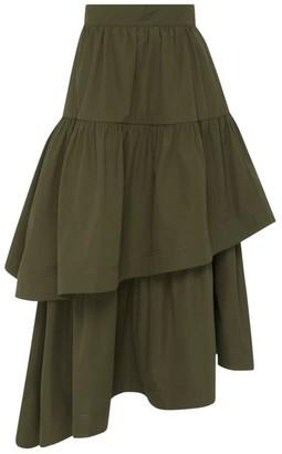 Aje Interlace Ruffle Midi Skirt
