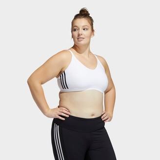 adidas Women's All Me 3-Stripes Light Support Sports Bra (Plus Size)