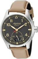 Alpina Men's AL-280BGR4S6 STARTIMER PILOT BIG DATE Analog Display Quartz Beige Watch